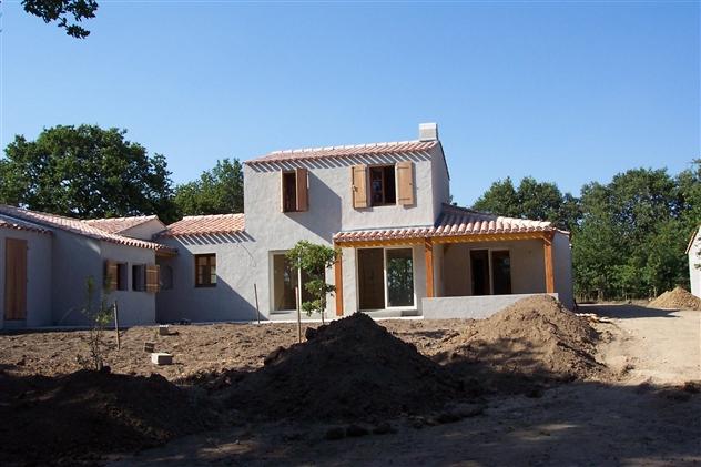 maison neuve dans le style  Ile d'Yeu réalisée par le maître d'oeuvre: Régine Blanchard   ARTHON EN RETZ
