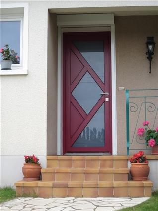 Pose d'une porte mixte Alu/bois à VALLET 44330.