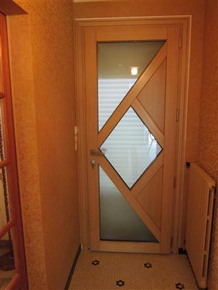 Pose d'une porte mixte Alu/bois intérieure à VALLET 44330.