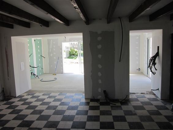 Rénovation / Extension Cloisons sèches : ouvertures alu, volets roulants au Pellerin 44640.