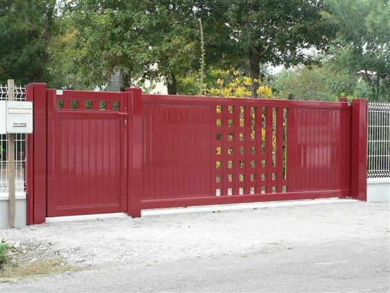 Fourniture et pose de portail + portillon alu modèle inov kappa 44720 ST-JOACHIM