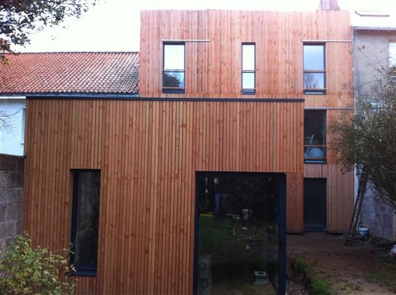 Extension bois et rénovation à Rezé