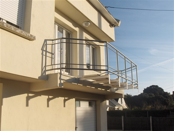 Garde-corps terrasse. Saint-Nazaire 44