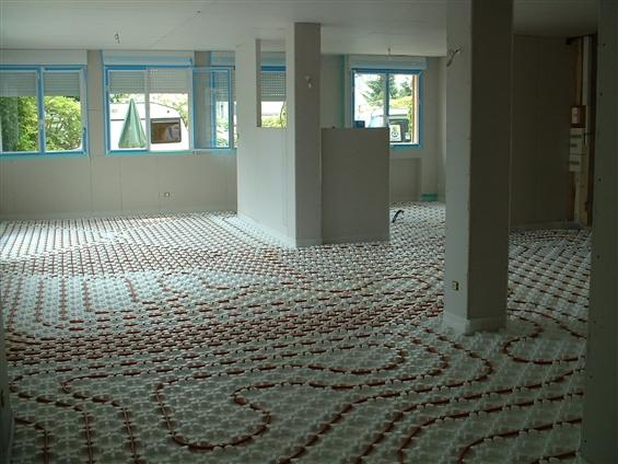 Pose d'un plancher chauffant eau-chaude - 44000 NANTES