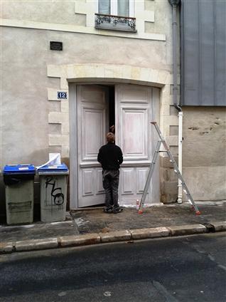Fabrication à neuf (copie de l'ancienne) et pose d'une porte cochère d'une copropriété sur Nantes 44000