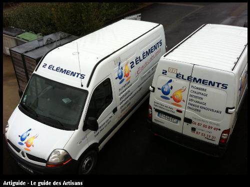camion de travail de l'entreprise 2 éléments- Plombier chauffagiste basé à 44 320  Saint Père en retz