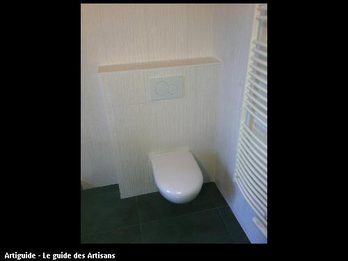 Toilette suspendu - travaux réalisé par l'entreprise 2 éléments basée 44 320 Saint Père en Retz