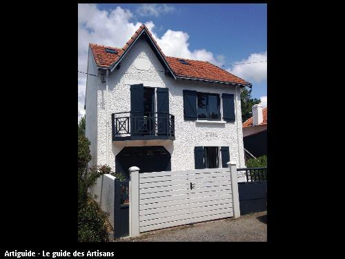 44380 - Pornichet - peinture façade, volets et ouvertures.