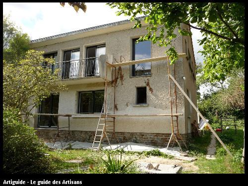 rénovation facade avant travaux sur st nazaine Régine  Blanchard  Maitre  d'œuvre   à Saint  Viaud