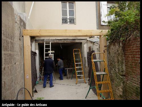 Renovation La Bernerie en retz  création d'une verrière .  Régine Blanchard Maitre d 'œuvre  a Saint Viaud