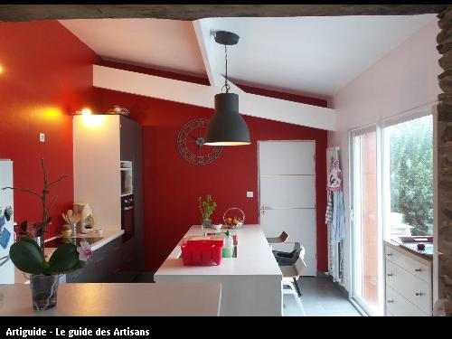 Cuisine réalisée par l'entreprise Gilles Normand basée à Rouans 44 640. Cuisine totalement finie