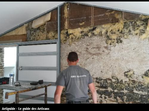 Mur porteur en pierres avant travaux