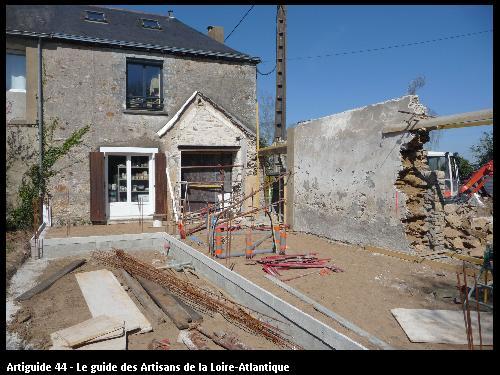extension  maison pierre le Pellerin. Régine Blanchard Maitre d 'œuvre  a Saint Viaud