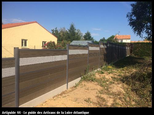 Travaux de clôture réalisé par l'entreprise SMP