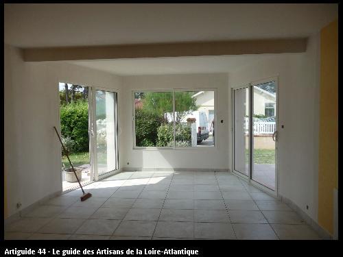 extension d 'un salon sur La  Bernerie  Régine Blanchard Maitre d 'œuvre  a Saint Viaud