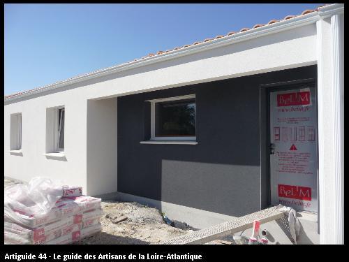 maison neuve sur La  Bernerie ; Régine Blanchard Maitre d 'œuvre  a Saint Viaud