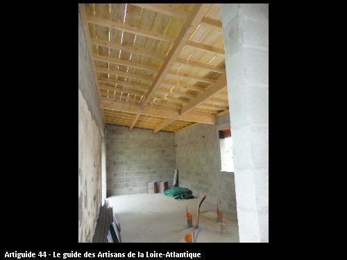 intérieur  volume  extension le Pellerin . Régine Blanchard Maitre d 'œuvre  a Saint Viaud