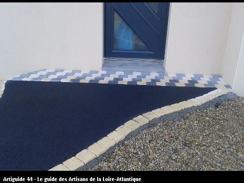 Travaux d'enrobé et de pavé réalisé par l'entreprise SOMATP basé à Sainte Pazanne 44680
