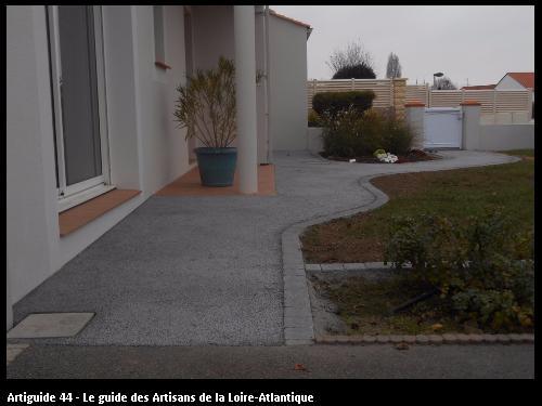 Terrasse réalisé par l'entreprise SOMATP basé à Saint Philbert de Grand Lieu 44310