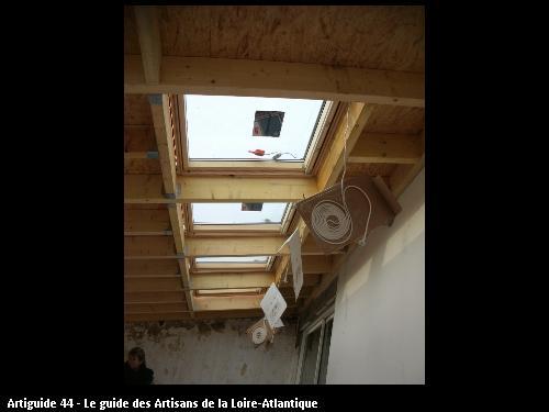 pose de plusieurs fenêtre de toit plus volet roulant électriques ST BREVIN 44250