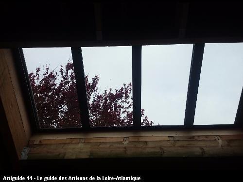 pose d une verrière vue de l intérieur LA PLAINE SUR MER 44770