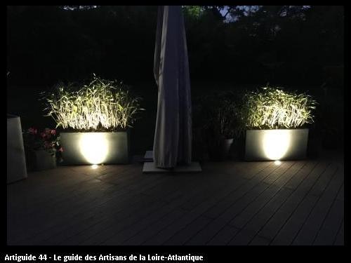 Eclairage décoratif d'une Terrasse à Saint Brévin 44250 réalisé par l'entreprise Electricité Martin située à Saint Père en Retz 44320