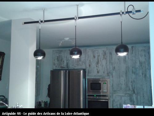 Eclairage décoratif et fonctionnel d'un plan de travail de cuisine (Saint Brévin)