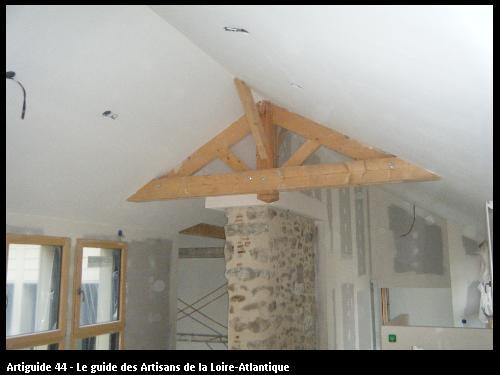 Rénovation en plaques d plâtre BA13 Chantier CLISSON