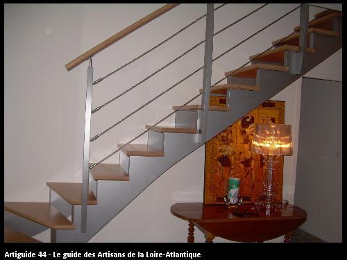 Escalier réalisé pour des clients de Savenay (44260).