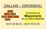 DALLAIS - GROSSEAU maçon, enduit, rénovation, charpentier, construction maison, couvreur, agrandissement LIMOUZINIERE 44310