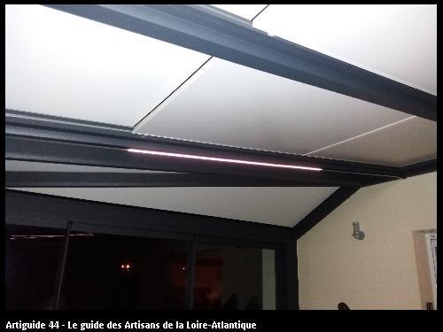 Eclairage par Ruban LED dans Véranda réalisé par l'entreprise Electricité Martin située à Saint Père en Retz 44320