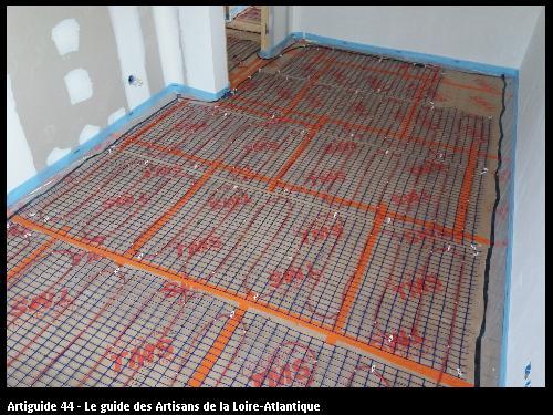 Plancher Chauffant (Chauvé) réalisé par l'entreprise Electricité Martin située à Saint Père en Retz 44320