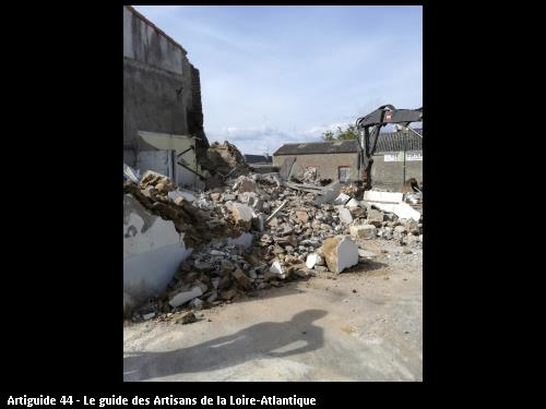 démolition dans le bourg