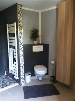 CORSEPT (44560) - SALLE DE BAIN AVANT TRANSFORMATION Création d'un espace WC en remplacement de la douche