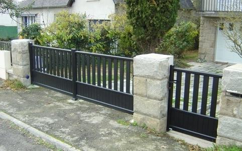 Portail aluminium et portillon, à Nantes 44000