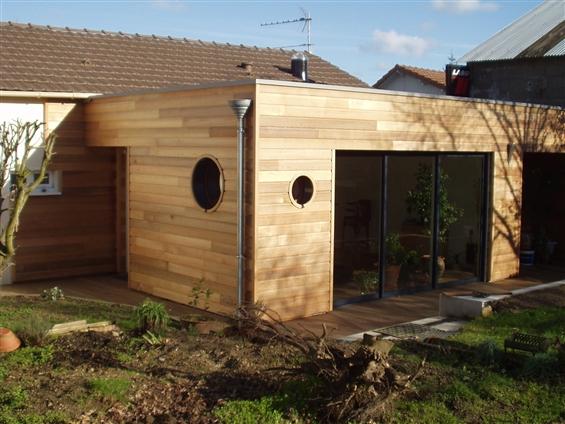 Extension bois à Montbert