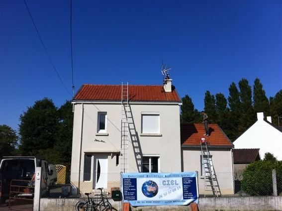 Après nettoyage toiture avec hydrofuge incolore
