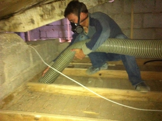 Enlèvement isolant en vrac avec aspirateur thermique 18cv 600cc