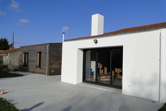 Menuiseries côté jardin Corcoué-Sur-Logne 44650
