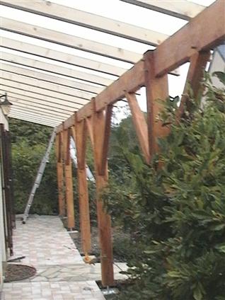 Extension ossature bois sur terrasse à SUCE-SUR-ERDRE 44240.