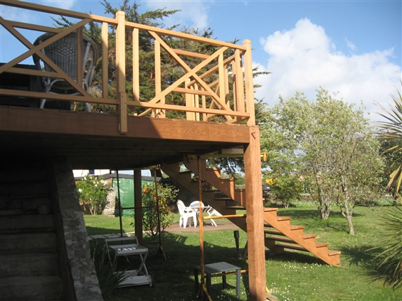 réalisation d'un balcon ossature bois à Pornic 44210.