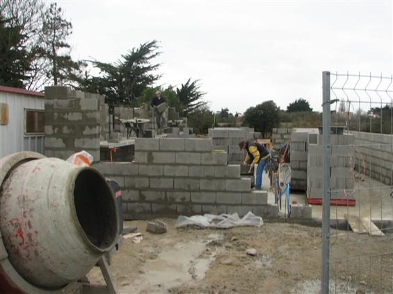 Elévation des murs à La Bernerie-en-Retz 44760