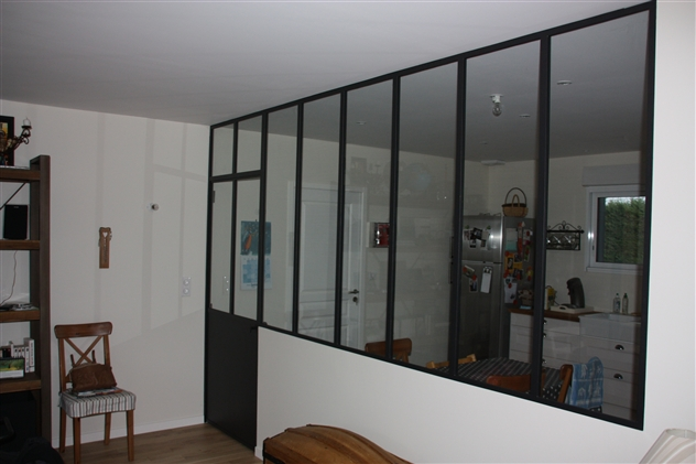 Cloison vitrée intérieure à Treillières 44119