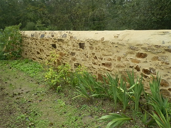 Mur aprés intervention à Chateau-thébaud 44690.