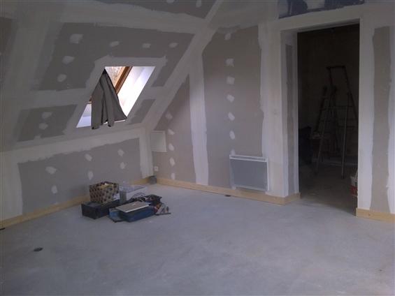 Aménagement grenier en cloisons sèches, à Nantes 44000