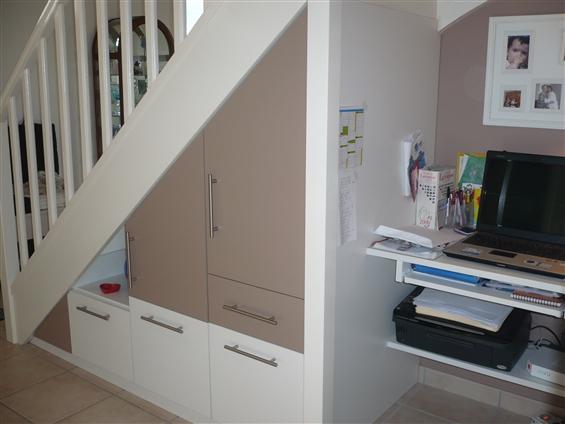 Aménagement sous escalier au loroux-bottereau 44430