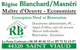 BLANCHARD REGINE rénovation, extension de maison, assainissement, maitre d'oeuvre SAINT-VIAUD 44320