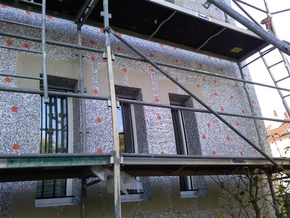 maison en cous de travaux d'isolation extérieur à Pornic 44210