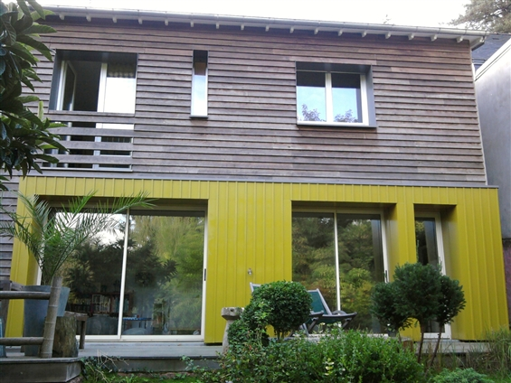 Création d'une extension surrélévation ossature bois à SAUTRON 44880.