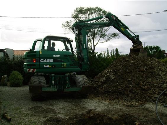 matériel arrivé récemment : pelle a pneus wx 125